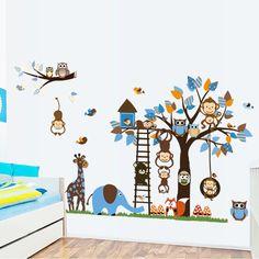 Maak van je kinderkamer een echt dieren jungle met deze dieren jungle muursticker. ✓ Gratis verzending ✓ Geschikt voor droge en vlakke oppervlakte