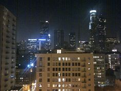 la view from a rooftop.