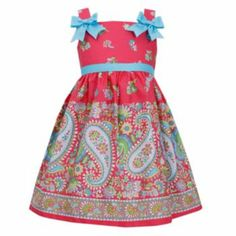 Bonnie Jean Paisley Dress - Girls 4-6x