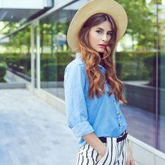 Modne dżinsowe koszule - styl moda fashion Wrangler