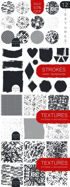 Textures, Strokes & Patterns. Textures. $10.00
