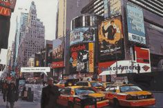 Tableau New-York 120 x Times Square, Ville New York, Kokoon Design, Deco Design, Decoration, Html, How To Make, Travel, Fingers