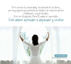 Aprender a confiar y depender de Dios One Shoulder Wedding Dress, Qoutes, Girly, Activities, Wedding Dresses, Frases, Morning Thoughts, Favors, Dios