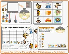 There Was An Old Lady Who Swallowed a Pie and MORE!!!!  Thanksgiving Packet  - Printables for Turkey Day!