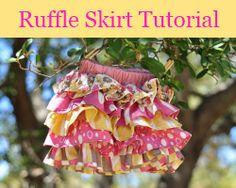 Ruffle skirt tutorial - a MUST MAKE!