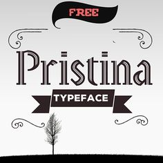 Pristina - display antique inline #free #font