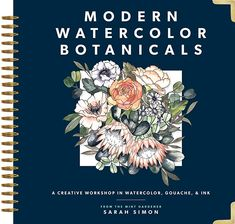 Booktopia has Modern Watercolor Botanicals, Creative Workshop in Watercolor, Gouache and Ink by Sarah Simon. Buy a discounted Hardcover of Modern Watercolor Botanicals online from Australia's leading online bookstore. Watercolor Books, Watercolor Artists, Watercolor Paintings, Vigan, Gouache, New Books, Good Books, Art Essay, Botanical Line Drawing