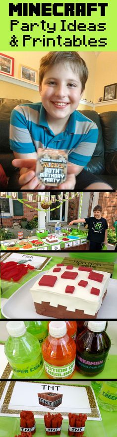 Minecraft party ideas, activities, and printables for my son's epic party that was prepared in just one day -- includes ALL the printables we used!