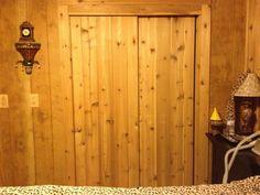 Sliding Cedar Closet Doors That Hubby Made