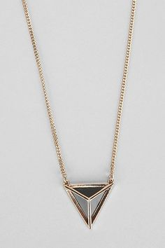 Caged Pyramid Necklace