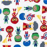 Super Kids Avengers Primary Fabric by Robert Kaufman Ann Kelle