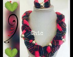 Collar Rosa mexicano trenzado por PetramiaChic en Etsy