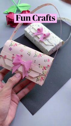 Cool Paper Crafts, Paper Crafts Origami, Diy Crafts Hacks, Diy Crafts For Gifts, Diy Arts And Crafts, Cute Crafts, Diy Craft Projects, Creative Crafts, Handmade Crafts