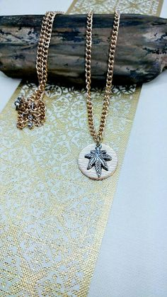 Cannabis Leaf Chain Necklace. by CLOTHandPISTIL on Etsy