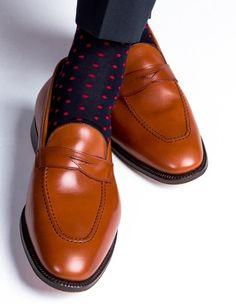 men's polka dot designer socks