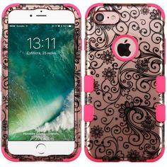 "MYBAT TUFF Designer iPhone 7 (4.7"") Case - 2D Rose Gold Clover/Pink"