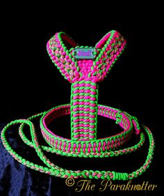 "Adjustable and reflectable Dog Harness & Leash ""Bindi"". ‪ ‪ ‪ ‪ ‪ ‪ ‪ ‪ ‪ Buy trending dog products from our store and get off. You will not find this dog products in another store, so grab this Limited Time Discount Now! Paracord Knots, Paracord Bracelets, Paracord Dog Leash, Dog Collars & Leashes, Paracord Projects, Dog Items, Dog Sweaters, Collar And Leash, Diy Stuffed Animals"