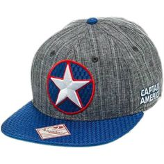 2a5f14d39 Captain America Winter Soldier Logo Adult Snapback Hat ❤ liked on Polyvore  featuring accessories, hats, logo hats, embroidered snapbacks, snap back  hats, ...