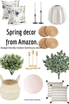 modern farmhouse style Budget-friendly spring home decor ideas. It doesnt look to much like spring around here today even though it is the first day of April. Winter decided that Modern Farmhouse Decor, Modern Decor, Decor Rustic, Decor Western, Country Decor, Spring Home Decor, Diy Home Decor, Spring Crafts, Decor Room