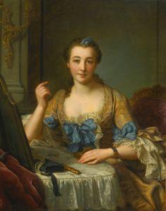 Donatien Nonnotte  BESANÇON 1708 - 1785 LYON  PORTRAIT OF THE MARQUISE DE GAST