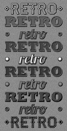 Classic Retro Photoshop Styles - Premium