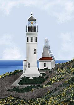 Anacapa Island lighthouse.  CA.