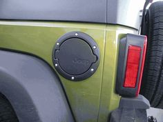 For Jeep Wrangler Unlimited 4-Door 07-18 Satin Black Fuel Filler Gas Door Mopar