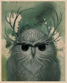 Snow Owl wood print. Nov 16th, noon PST.    Site and all contents ©2005-11 Jeff Soto