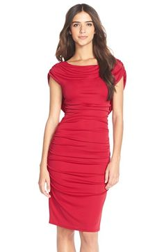 BCBGMAXAZRIA 'Kylia' Ruched Jersey Sheath Dress available at #Nordstrom