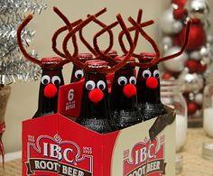 DE LUNARES Y NARANJAS: Preparando la navidad: disfraza los botellines de cerveza