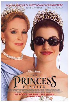 The Princess Diaries (2001). Starring: Julie Andrews, Anne Hathaway, Heather Matarazzo, Mandy Moore, Erik von Detten and Bill Ferrell