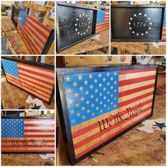 US 🇺🇸 Flag wall decor concealing anything yiu desire to store in it. Betsy Ross 1776 flag on the inside.