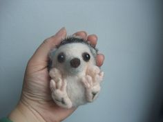 Needle felted a tiny curl up hedgehog £28.00
