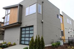 No matter what type of modern home you have, it's important to complement its exterior with the right modern siding. Fiber Cement Siding, Wood Siding, Exterior Siding, Exterior Remodel, Modern Exterior, Exterior Design, House Siding, Types Of Houses, House Design