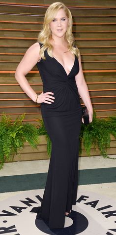 Amy Schumer in a black gown