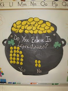 I made this a few years ago. This is such a cute visual for graphing on St. Patrick's Day.