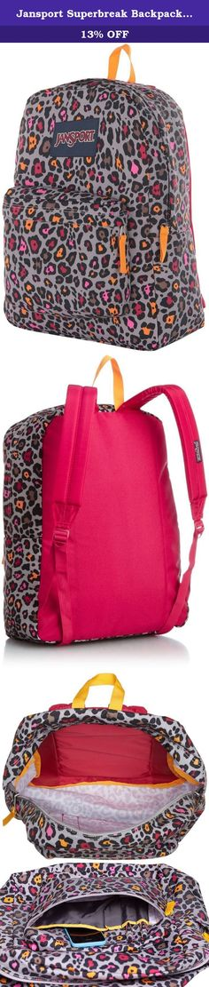 Jansport Superbreak Backpack - Grey Rabbit Lucy Leopard. Go back to school with style and convenience with Jansport. This backpack is great for students from elementary to college.