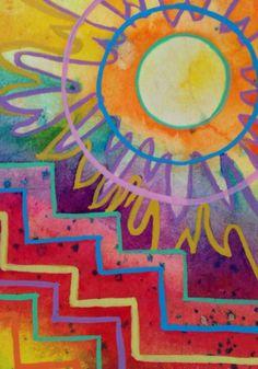 Sun and Moon Art. Sun Moon Stars, Sun And Stars, Sun Painting, Good Day Sunshine, Southwestern Art, Sun Designs, Sun Art, Art Plastique, Ciel