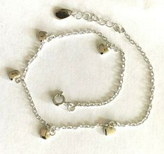 """Sterling Silver .925 Anklet~ ITALIAN  1.2mm Twin Color Anklet 10/"""" NEW $8.49"""