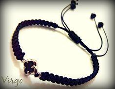 Handmade Macrame Bracelet with Crystal by VirgoHandmadeJewelry Virgo Jewelry, Crystal Beads, Crystals, Sterling Silver Cross, Micro Macrame, Macrame Bracelets, Virginia, Facebook, Box