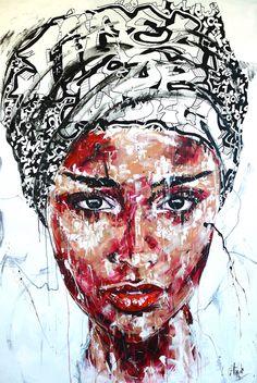 Lucile Callegari / T236 / Acrylique et fusain sur toile, 195x130cm, 2015.