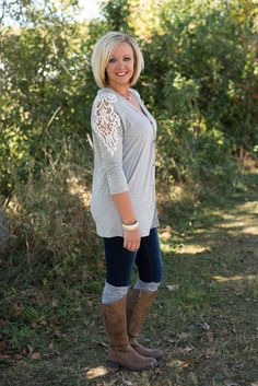 caf956ce783 Solid Enchantment Button Down - Heather Gray Glamour Farms, Heather Gray,  Button Downs,