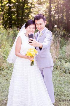 Virginia and Jasons Yellow Wedding and Il Tulipano