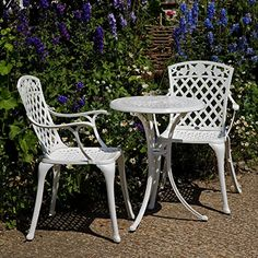 White Ella Bistro Table and 2 Rose Chairs Set Lazy Susan Furniture http://www.amazon.co.uk/dp/B00BMLZFGK/ref=cm_sw_r_pi_dp_6b4zvb1AGJPKF