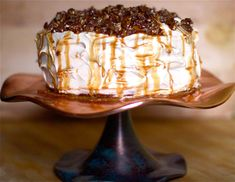 Pumpkin Layer Cake:  This is SOOO worth the extra effort!  I WILL be making this again for the holidays!  Tip: I think you could just double the Salted Caramel topping recipe and use some of it in the frosting instead of doing two separate caramel recipes.