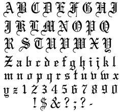 English Alphabet | View Image Design - View Stencil Outline Design - Purchase Stencil