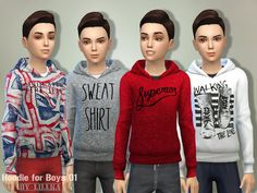 Hoodie for Boys 01 by lillka at TSR