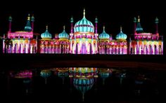 14-18 NOW and Brighton Festival light up Brighton Pavilion for Dr Blighty, which commemorates the Indian soldiers who fought for the allies in the First World War, in Brighton, England.