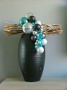 Kerst decoratie met vaas