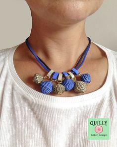 """#papernecklace """"Bead_05"""" by QuillyPaperDesign"""